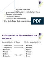 La Taxonomia de Bloom Revisada Por Anderson