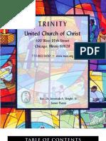 Trinity United Church of Christ Bulletin July 30 2006