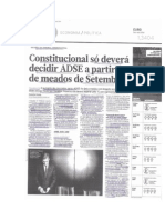 Aumento dos descontos para a ADSE (Diário Económico, 11 e 13 de Agosto de 2014)