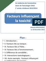3. Facteurs Influençant La Toxicité Khaoula