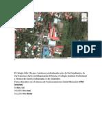mapa de ubicacin del colegio flix olivares contreras