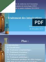 7. Traitement Des Intoxications Khaoula