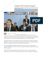 Ukraine Crisis Sends NATO 'Back to Basics'