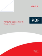 Manual Destilador Purelab Option Elga