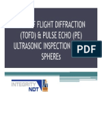 Time of Flight Diffraction (Tofd) & Pulse Echo (Pe) Ultrasonic Inspection