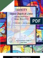Trinity United Church of Christ Bulletin Nov 19 2006