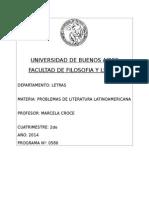 Problemas de Literatura Latinoamericana (Croce)