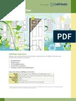 CraftMaster Green Door Brochure