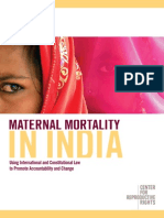 R414 CenterRepRights 2008 INDIA Maternal Mortality in India Center for Huiman Rights