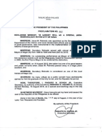 Proclamation No. 849