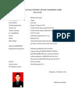 Formulir Pendaftaran Peserta Muswil 2012