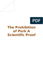 The Prohibition of Pork a Scientific Proof