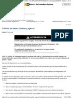 Válvula de alivio - Probar y ajustar D11T