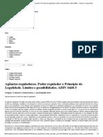 Agências Reguladoras_ Poder Regulador x Princípio Da Legalidade. Limites e Possibilidades