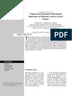 Temperature Dependent Rheological Behaviour of Plastisols Used in Coated Fabrics