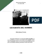 Geografia Del Hambre