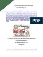 El Boicot Económico Judío Contra la Alemania Nacionalsocialista