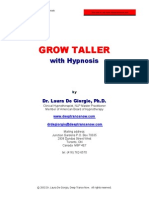 Grow Taller With Hypnosis eBook