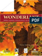 Wonderlust Lifelong Learning Catalog, Bozeman, Montana