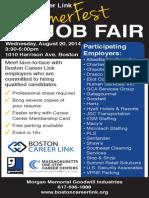 Summerfest Job Fair Aug. 20