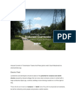 Induced Currents in Transmission Towers and Poles