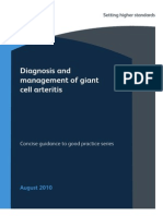Giant Cell Arteritis Concise Guideline