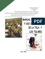 Manual de Manejo y Uso Sostenible de La Tola y Los Tolares