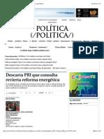 12-08-14 Descarta PRI que consulta revierta reforma energética