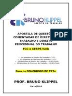 Apostila de Questões Comentadas Dir Trab e Proc Trab - Bruno Klippel