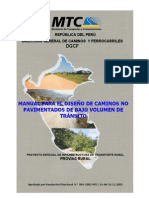 Manual de Caminos No Pavimentados de Bajo Volumen Mtc