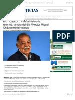 12-08-14 Peña Nieto y la reforma, la nota del día