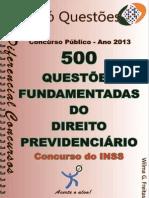 500 Questões Comentadas - DIREITO PREVIDENCIÁRIO-concurso INSS