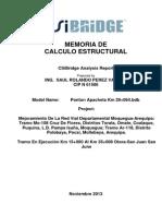Memoria Calculo Ponton Apacheta Km 29+064 (Version 01)