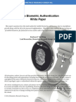 Mobile Biometric Authentication Report