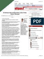 12-08-14 El abrazo del compromiso entre Peña Nieto y Bernal.