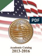 Academic Catalog 2013 2016
