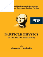 Particle Physics at the Year of Astronomy-AI Studenikin(Editor)(2010)