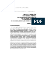 Descolonización Epistémica y Ética - Aporte de Albò y Cusicanqui