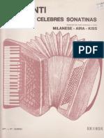 Trozos de Celebres Sonatinas - Acordeon - CLEMENTI