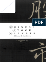 Dongwei Su Chinese Stock Markets a Research Handbook 2003
