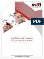 How to Build Up the Value of Your Product or Service