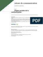 Questionsdecommunication 430 15 Pathologies Sociales de La Communication