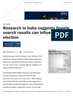 Research in India Suggests Google Search Results Can Influence an Election - The Washington Post