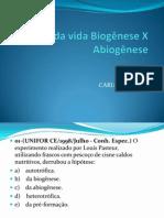 Origem Da Vida Biogênese X Abiogênese