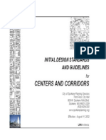 Initial Design Standards and Guidelines in Centers and Corridors