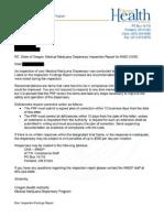 Medical Marijuana Dispensary Inspection Report for The Holistic Choice