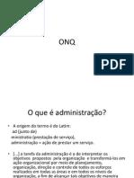 Aulas de ONQ