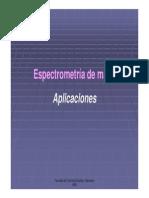 Espectometria de masas aplicaciones