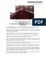 PRIMER VICEPRESIDENTE DEL CONGRESO  MODESTO JULCA JARA PROMUEVE MESA DE DESARROLLO AGRARIO CON VISTA A BICENTENARIO
