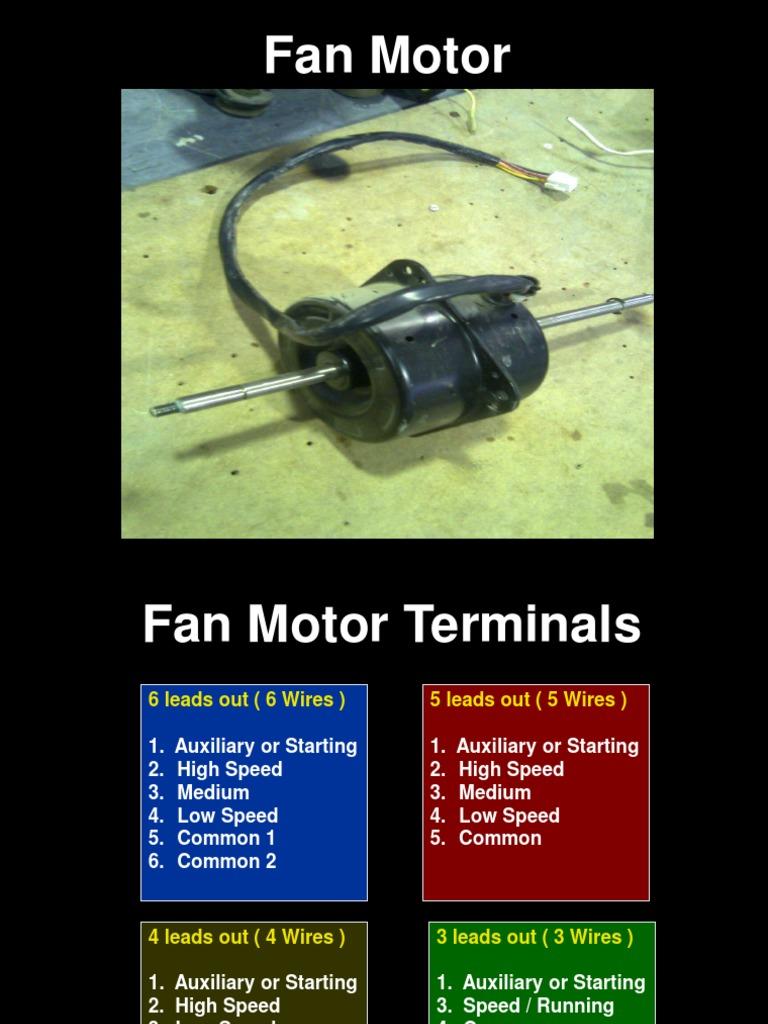 fan motor terminal identification electrical resistance and rh scribd com 6 Lead Motor Winding 6 Lead Motor Diagram